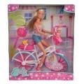 Кукольный набор Штеффи с малышом на велосипеде