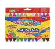 Пастель маслянная в пластиковом контейнере 24 цвета Colorino