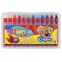 Мел для лица 12 цветов Colorino