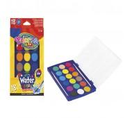 Краски акварельные с 2 кисточками 18 цветов Colorino 54737