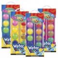 Краски акварельные с кисточкой, маленькие 12 цветов Colorino 41508