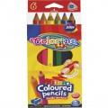 Олівці кольорові тригранні Jumbo 6 кольорів Colorino