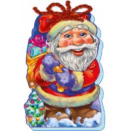 Книжка картонка С Новым годом! (на шнурке). Дед Мороз