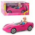 Кукла типа Барби DEFA в машинке кабриолет 8228
