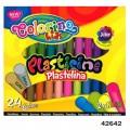 Пластилин 24 цвета Colorino