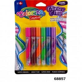 Клей с блестками 6 цветов Colorino