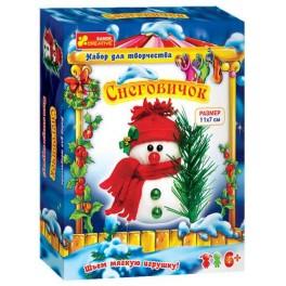 Снеговичок шьем игрушку набор для творчества