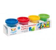 Тісто-пластилін великий набір 4 кольори по 140г