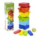 Настольная игра Башня Дженга цветная FUN GAME  7362