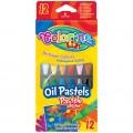 Карандаши пастельные масляные шестигранные 12 цветов Colorino 14052PTR