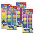 Краски акварельные 12 цветов большие таблетки с кисточкой Colorino 41089PTR