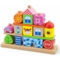 Набор деревянных кубиков Город Viga Toys 50043