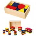 Деревянный Набор для обучения Логические блоки 56164