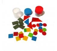 Набір геометричних фігур з пластика