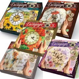 Набор для творчества Декупаж Часы Decoupage Clock Danko Toy