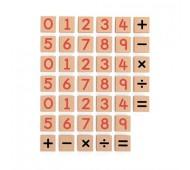 Набор Магнитные цифры и знаки 40 шт 50591