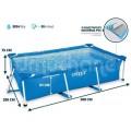 Каркасный бассейн 300х200х75 см Intex 28272 Rectangular Frame Pool