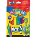 Фломастери Brush 10 кольорів COLORINO 65610PTR