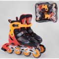 Детские Ролики раздвижные Best Roller колёса PVC светящееся переднее колесо р 34-37  70028-М