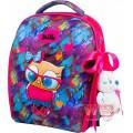 Рюкзак-ранець шкільний каркасний з мішком для змінного взуття пеналом і м'якою іграшкою DeLune 7mini-015