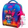 Рюкзак-ранець шкільний каркасний з мішком для змінного взуття пеналом і м'якою іграшкою DeLune 7mini-016