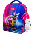 Рюкзак-ранець шкільний каркасний з мішком для змінного взуття пеналом і м'якою іграшкою DeLune 7mini-017