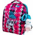 Рюкзак-ранець шкільний каркасний з мішком для змінного взуття пеналом і м'якою іграшкою DeLune 7mini-018