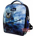 Рюкзак-ранець шкільний каркасний з мішком для змінного взуття пеналом і електронним годинником DeLune 7mini-020