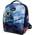 Рюкзак ранец школьный каркасный с мешком для сменной обуви пеналом и электронными часами DeLune 7mini-020