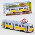 Модель трамвай Автопарк инерционный открываются двери свет звук PLAY SMART  9708C
