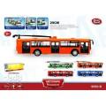 Модель Троллейбус Автопарк Маршрут инерционный открываются двери свет звук PLAY SMART  9690-B