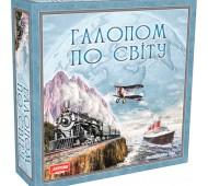 Настольная развивающая игра Галопом по Миру укр  Artos Games 1069