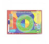 Доска магнитная с часами и маркером 0176
