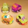 Игровой набор- забавный автопарк (4 резиновые машинки-погремушки)